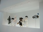 A vitrine full of marionettes, part of Xijing Men's 4-part installation for Media City Seoul 2010
